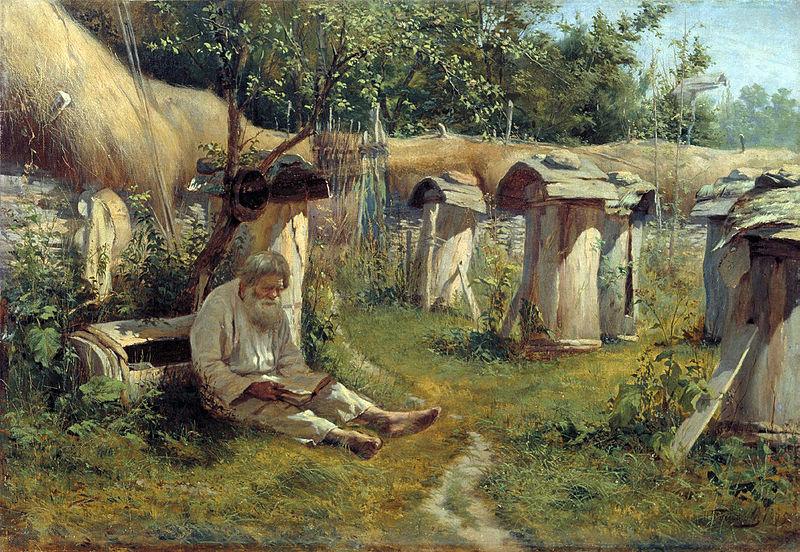 Николай_А._Богатов_-_Пасечник_1875