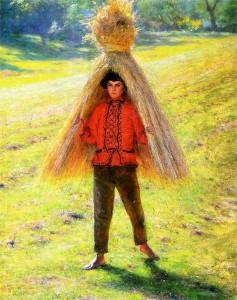 Gierymski_A_boy_carrying_a_sheaf