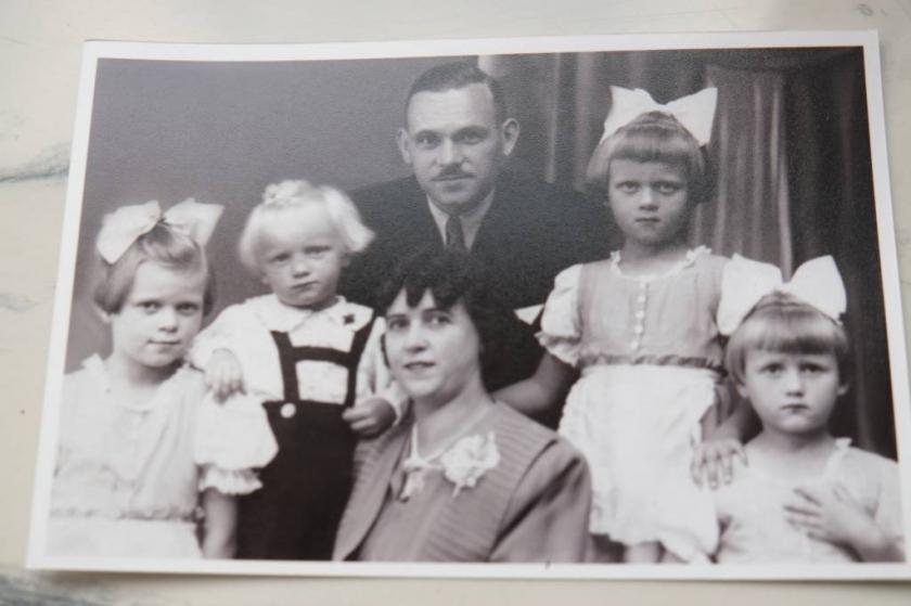 Rodzina Pani Barbary jeszcze z okresu niemieckiej okupacji.