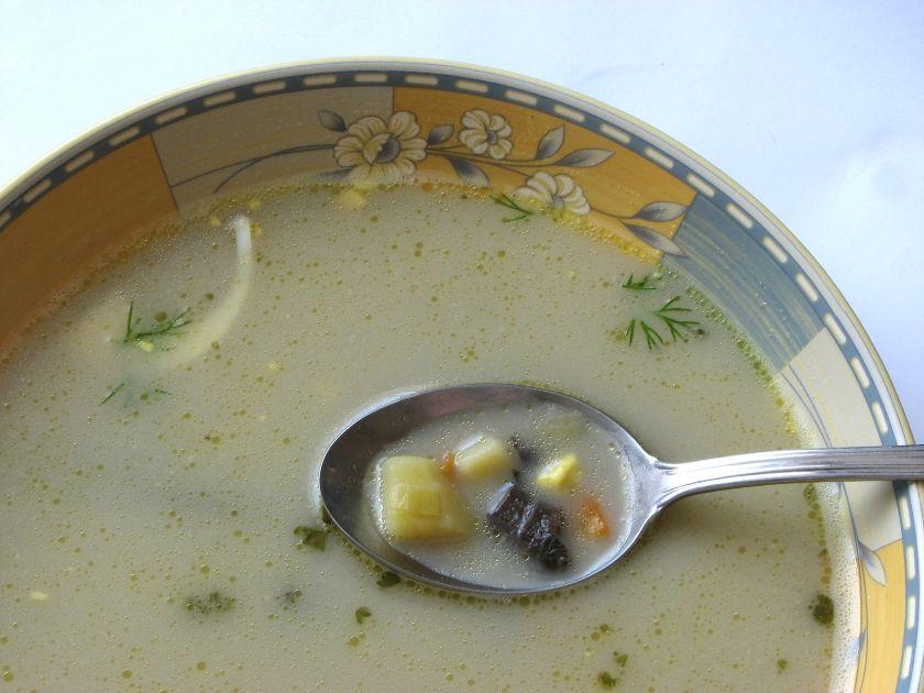 zupa grzybowa z gałuszkami