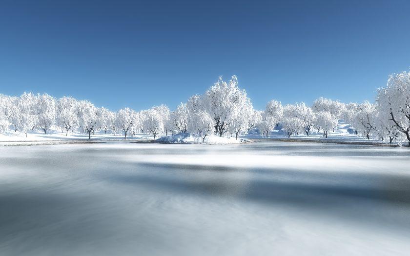 Frozen-Winter-lake-Wallpaper-PC