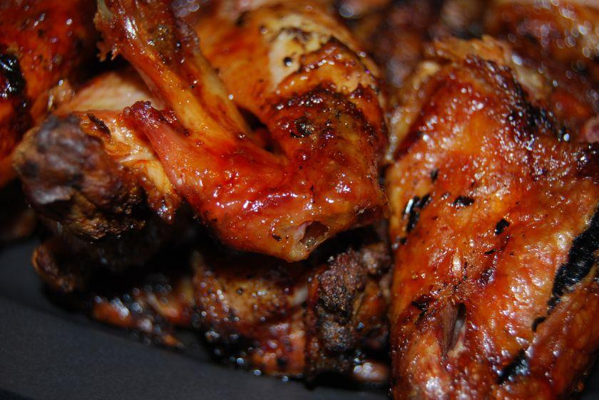 miodowe skrzydełka kurczaka