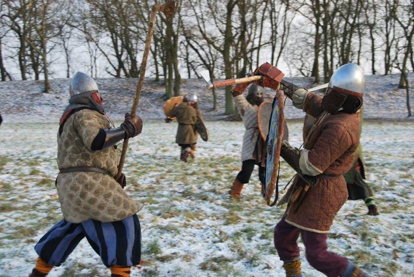 Walki toczone przez rycerzy w Grodzie w Grzybowie
