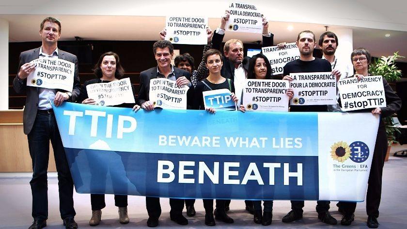 protest przeciwko umowie TTIP