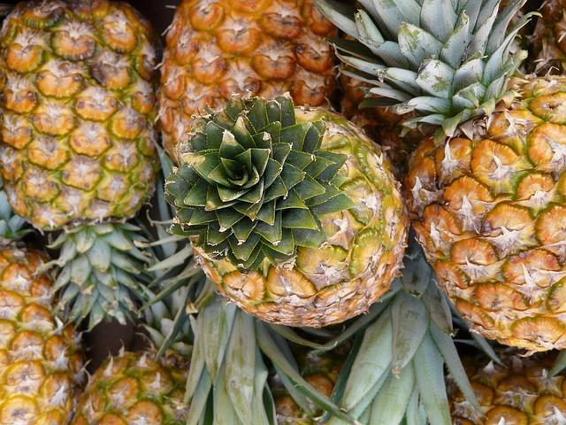 Ananas, dieta, zdrowa żywność