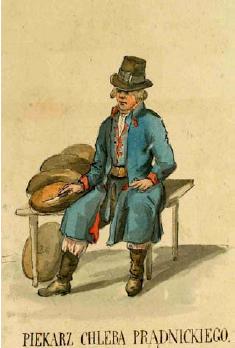 Rys. 3. Jan Kanty Wojnarowski, Piekarz chleba prądnickiego, XIX w