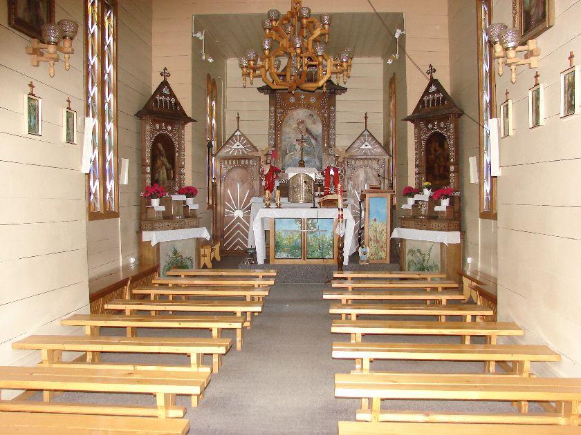 Na zdjęciu widoczne wnętrze kaplicy. Źródło: grafika google.